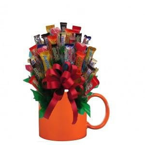 MIXED CHOCOLATE CANDY BOUQUET MUG-