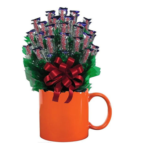 BABY RUTH CANDY BOUQUET MUG-Orange-Candy Mug Bouquet