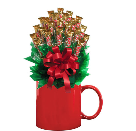 TWIX™ CANDY BOUQUET MUG-Red-Candy Mug Bouquet