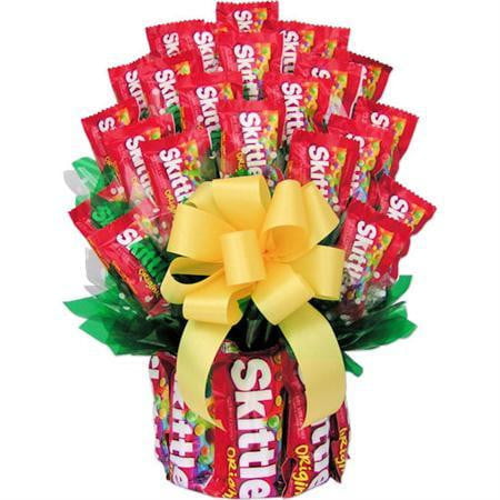 All Skittles Candy Bouquet-Large - Sensual Baskets | Romance Baskets With Benefits