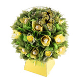 Yellow Craspedia Chocolate Bouquet-Chocolate Bouquet