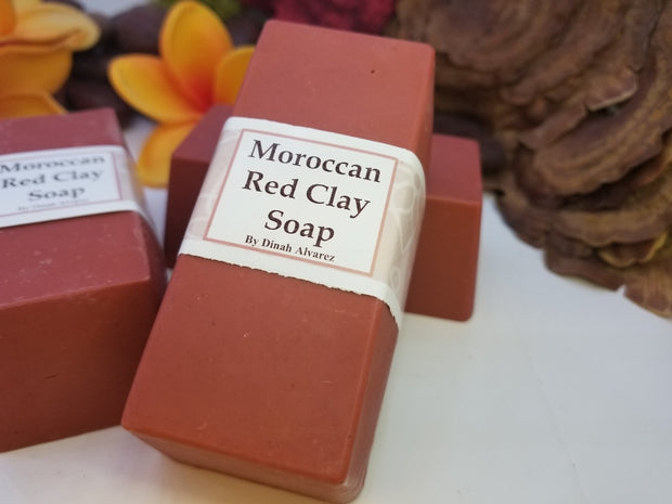Moroccan Red  Clay soap 8oz.