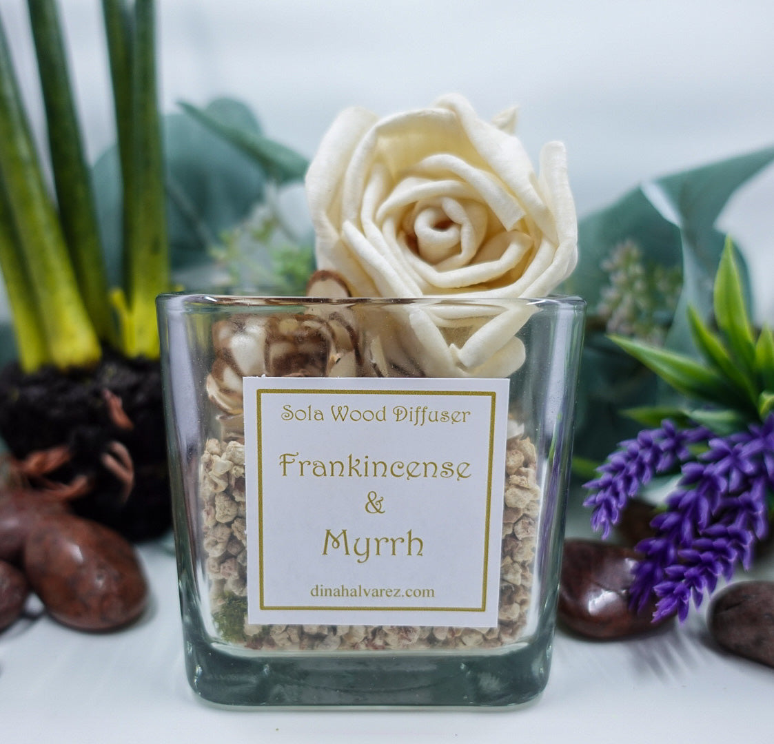 Frankincense and Myrrh Sola Wood Diffuser