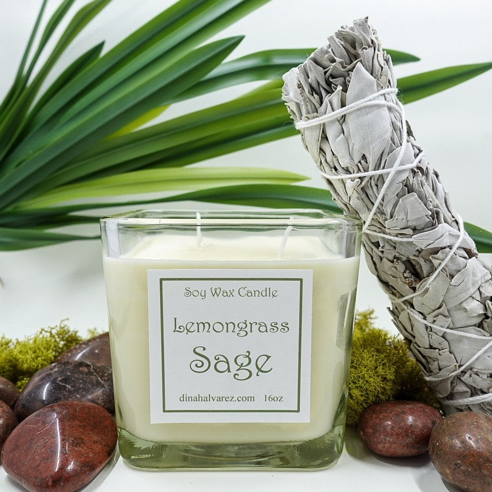 Lemongrass Sage Soy Wax Candle