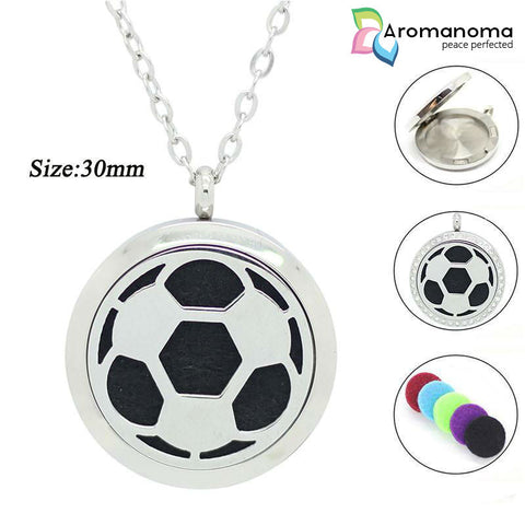 Football/Soccer Ball Aromatherapy Necklace