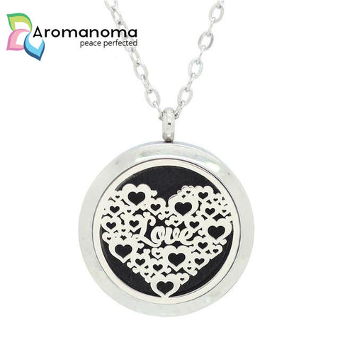 Love & Hearts Aromatherapy Necklace