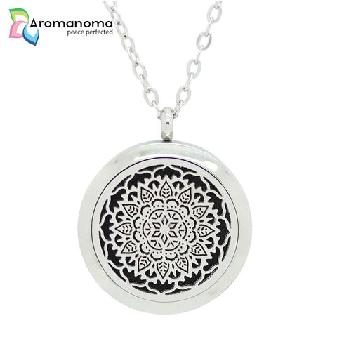 Leaf Mandala Aromatherapy Necklace