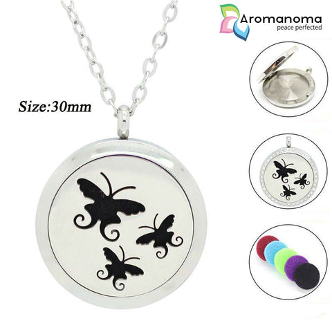 Butterfly Trio Aromatherapy Necklace