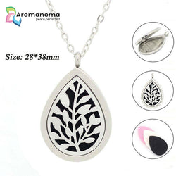 Leafs Drop Aromatherapy Necklace