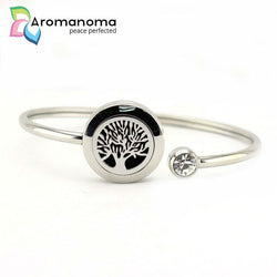 Tree of Life Aromatherapy Bangle Bracelet