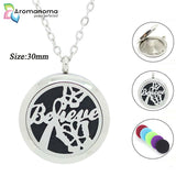 Believe Butterflies Aromatherapy Necklace