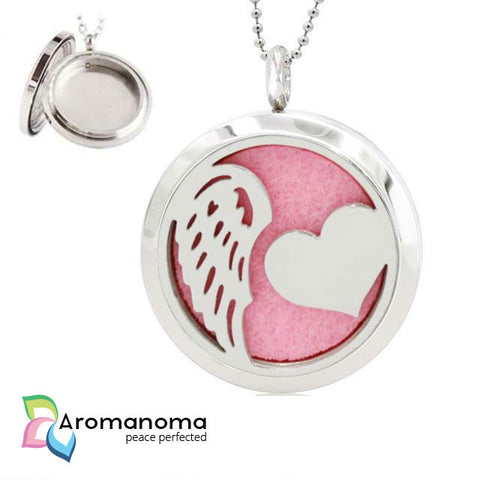 Wing & Heart Aromatherapy Necklace