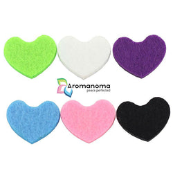100 Heart Shape Felt Pads for 30mm Essential Oil Aromatherapy Diffusers