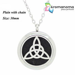 Celtic Trinity Knot Simple Aromatherapy Necklace