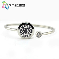 Lotus Flower Aromatherapy Bangle Bracelet