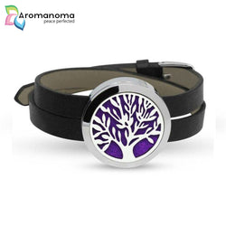 Tree of Life Aromatherapy Leather Bracelet
