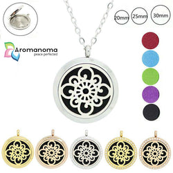 Mandala Cross Aromatherapy Necklace