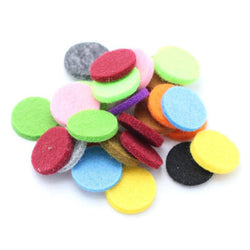 100 Pads for 25mm Essential Oil aromatherapy necklaces