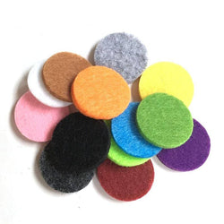 Felt Pads for 30mm Essential Oil Aromatherapy Necklaces - 100 in pack
