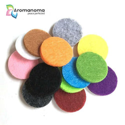 100 Felt Pads for 30mm Essential Oil Aromatherapy Necklaces