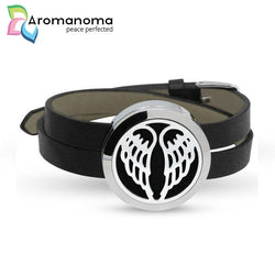 Angel Wings Aromatherapy Leather Bracelet