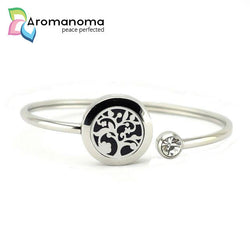 Cherry Blossom Aromatherapy Bangle Bracelet