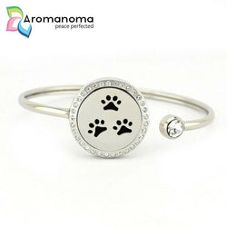 Little Paws Aromatherapy Bangle Bracelet with Crystals