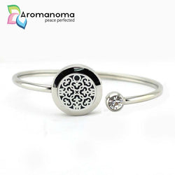 Mandala Tile Aromatherapy Bangle Bracelet