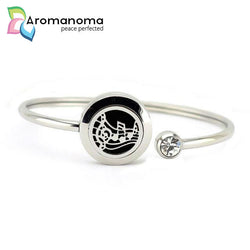 Music Notes Aromatherapy Bangle Bracelet