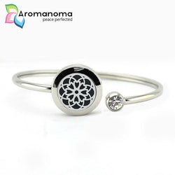 Flower Mandala Aromatherapy Bangle Bracelet