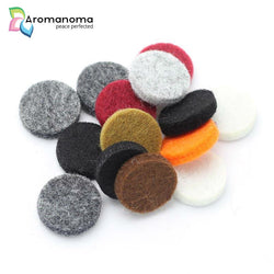 100 Felt Pads for 20mm Essential Oil Aromatherapy Necklaces