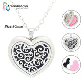 Heart Shape Spiral Branches Aromatherapy Necklace