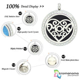 Circle & Spiral Heart Aromatherapy Necklace