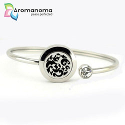 Cirrus Inverted Aromatherapy Bangle Bracelet