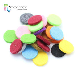 100 Felt Pads for 25mm Essential Oil Aromatherapy Necklaces