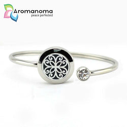 Flower Aromatherapy Bangle Bracelet