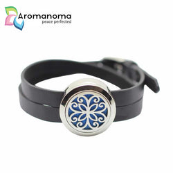 Flower 25mm Aromatherapy Leather Bracelet