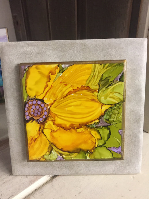 Small Unique Technique Tile Art