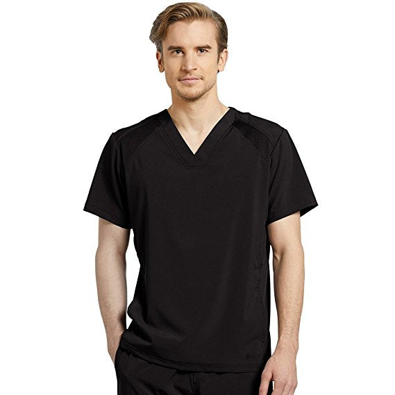 f9c9492583c Top: Oasis Fit by White Cross Men's V-Neck Solid Scrub Top Black ...