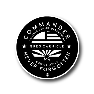 COMMANDER CARNICLE MEMORIAL STICKER