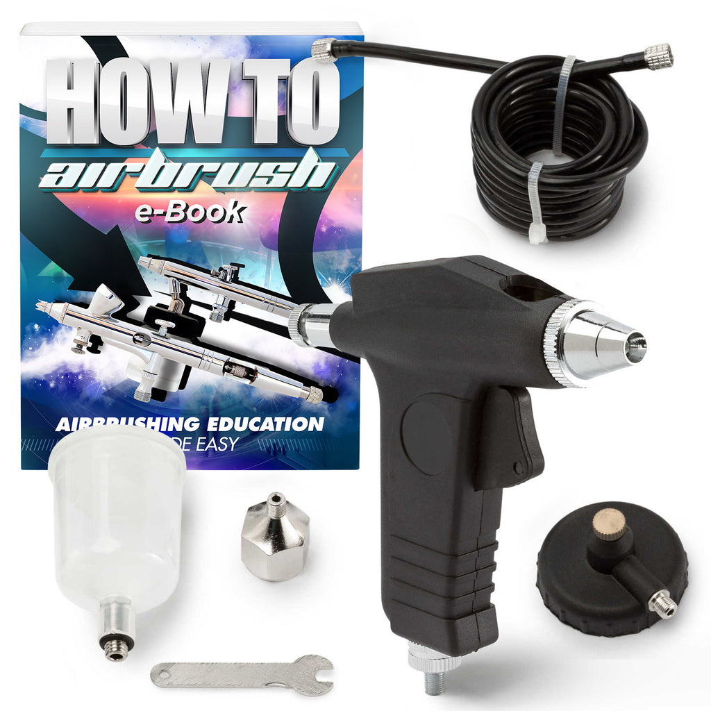 Single Action Trigger Style Airbrush with Propellant Adaptors - mixwholesale.com