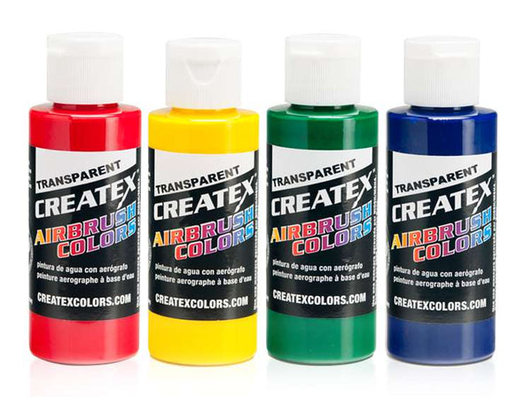Createx Colors Airbrush Paint - 4 Primary Set - 2 oz - mixwholesale.com