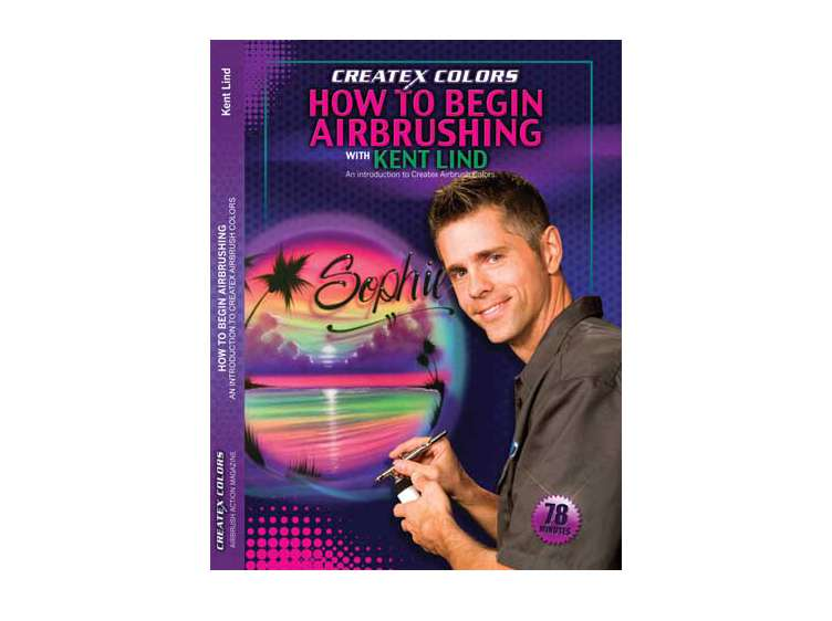Createx DVD - How To Beginning Airbrushing  - Kent Lind - mixwholesale.com