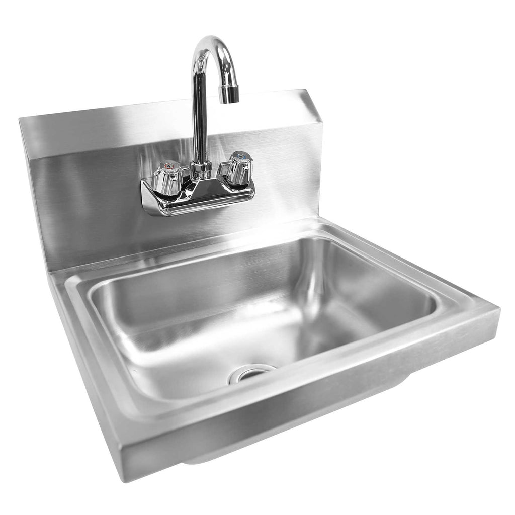 Commercial Stainless Steel Hand Wash Washing Wall Mount Sink Kitchen - mixwholesale.com