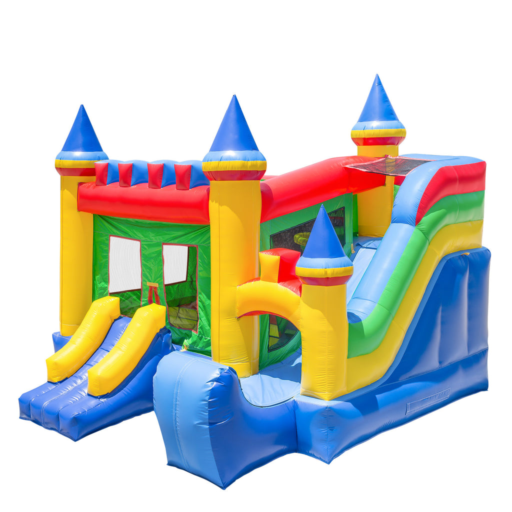 Commercial Bounce House 100% PVC Inflatable Castle King Jumper Slide with Blower - mixwholesale.com