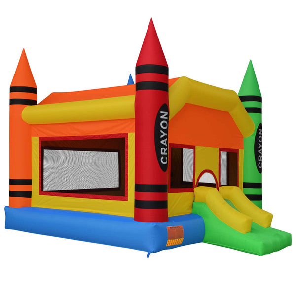 Crayon Theme Bounce House Jumper Castle Bouncer Inflatable with Blower - mixwholesale.com