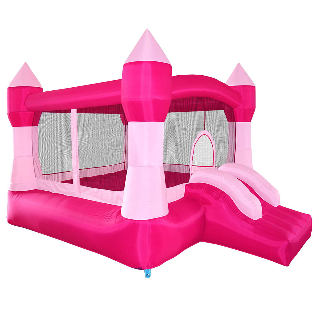 Pink Princess Bounce House Girls Jumper Castle Bouncer Inflatable with Blower - mixwholesale.com