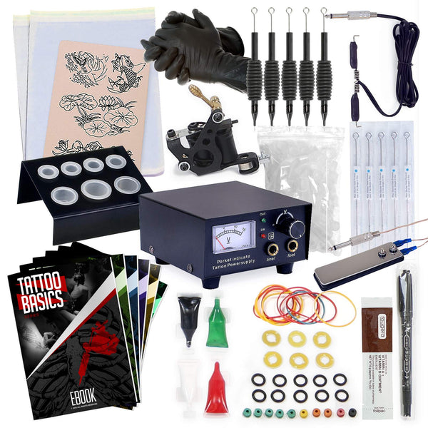 Complete tattoo equipment and supply set