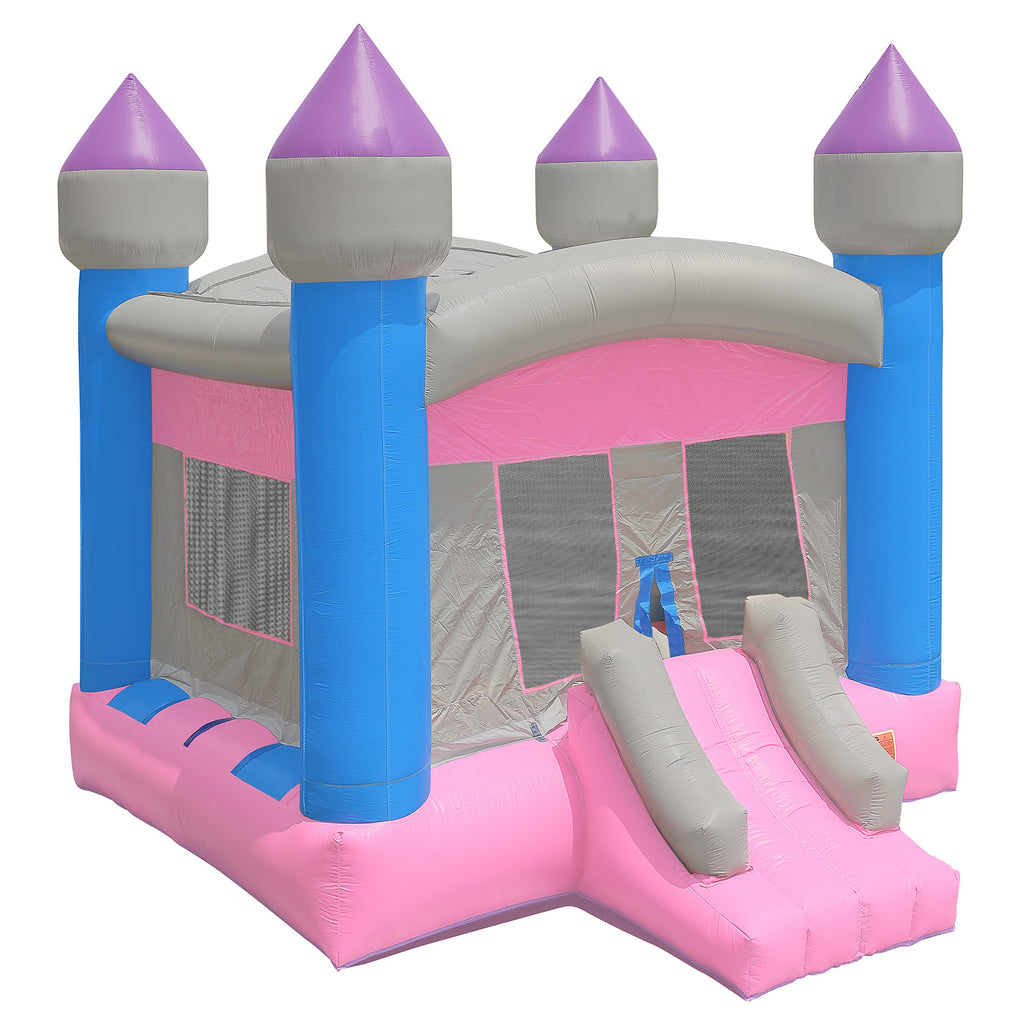 Commercial Bounce House 100% PVC  Princess Castle Jumper Inflatable Only - Girls - mixwholesale.com
