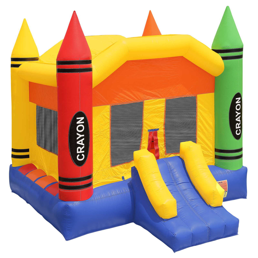Commercial Grade 17 x 13 Bounce House 100% PVC Crayon Jumper Inflatable Only - mixwholesale.com
